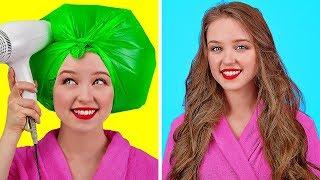 KIZLAR İÇİN AKILLI VE KOLAY TÜYOLAR || 123 GO!'dan Kızlar İçin Havalı Saç Ve Makyaj Fikirleri