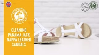 How to clean your Panama Jack nappa leather sandals