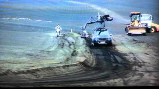 Tom Cruise  crashes stunt bike on set of Oblivion