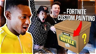SURPRISING JUJU SMITH-SCHUSTER WITH A CUSTOM FORTNITE PAINTING!! *AMAZING REACTION*