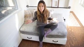 How To Build A Sofa That Converts To A Storage Bed: Ana White Tiny House Build Episode 12