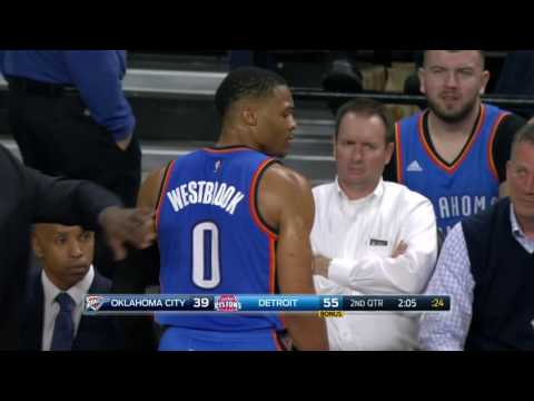 Oklahoma City Thunder at Detroit Pistons- Novembre 14, 2016