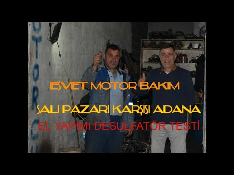 ✅ ✅ ✅Ali Usta Desulfatör-El Yapımı Desulfatör-Esvet Motor Adana-Ölmüş Akü Canlandırma-Ali Usta✅ ✅ ✅