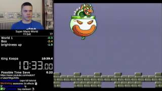 (10:38) Super Mario World 11 exit (orb) speedrun