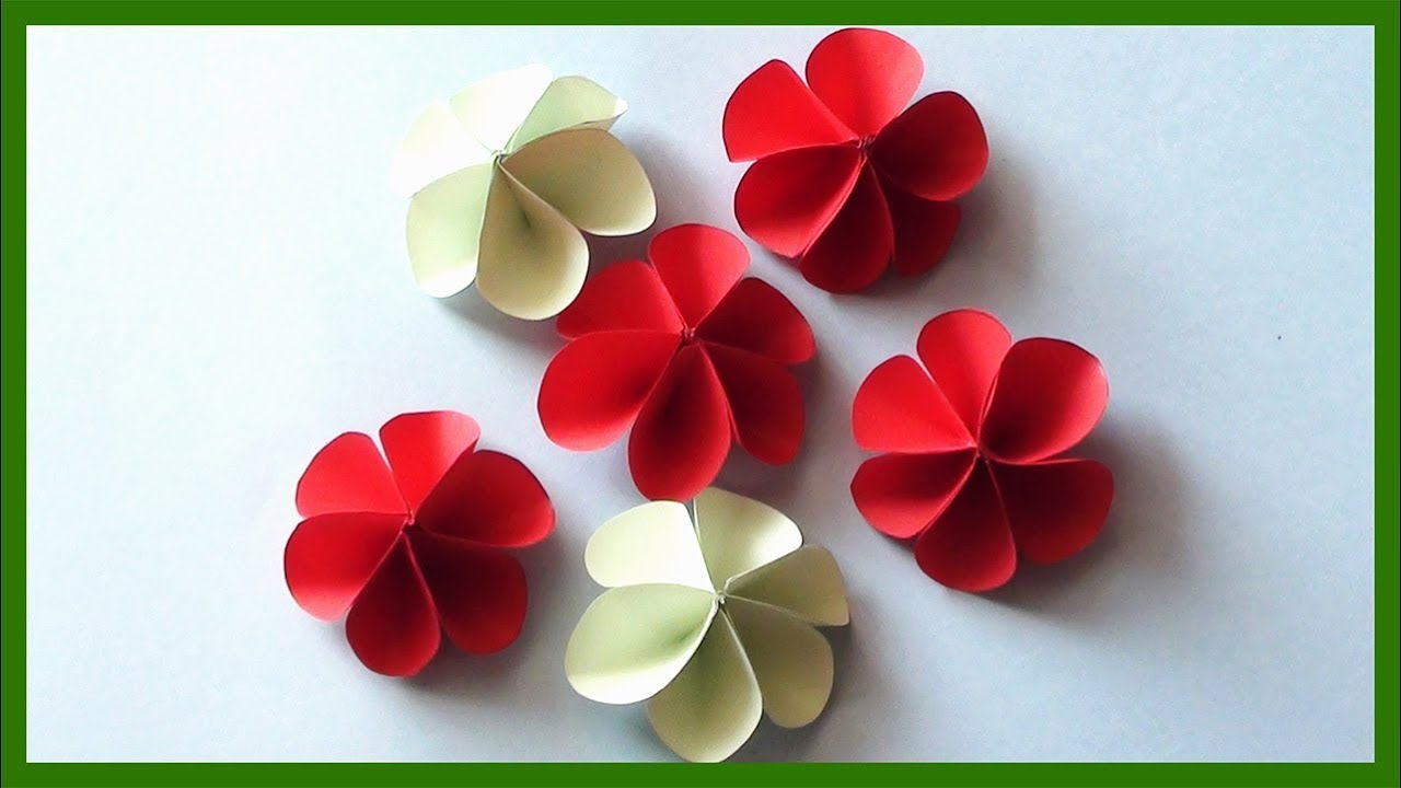 How to Make Simple Paper Flowers | Easy Paper Crafts for Kids ... | 720x1280