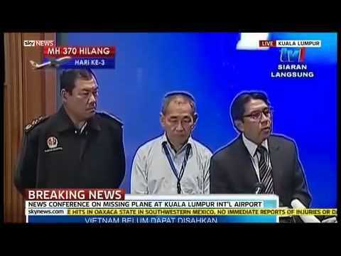 LATEST Press Conference on 239-Missing Malaysia Airlines B777 3/10/2014