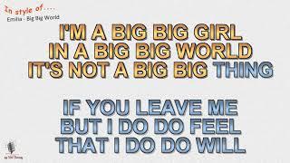 Emilia - Big Big World - Instrumental and Karaoke by rolf ratty