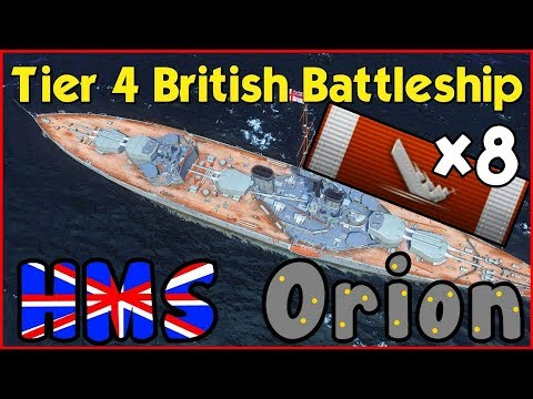 HMS Orion ⚓ 160k dmg 8 kills -  really close match - World of Warships