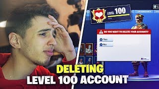I DELETED ROOMMATES LVL 100 FORTNITE ACCOUNT and this happened...