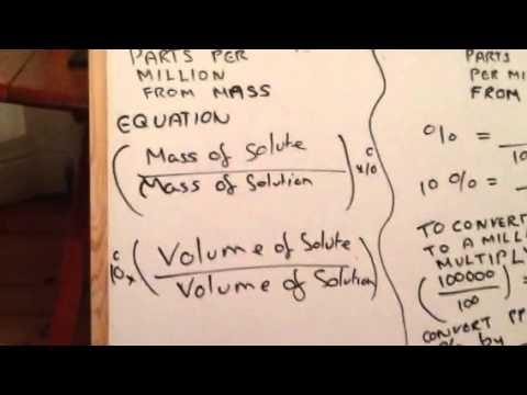 Parts per million calculation