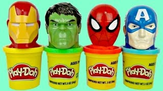 SUPERHERO Play-doh Toy Suprises, Candy Dispen...
