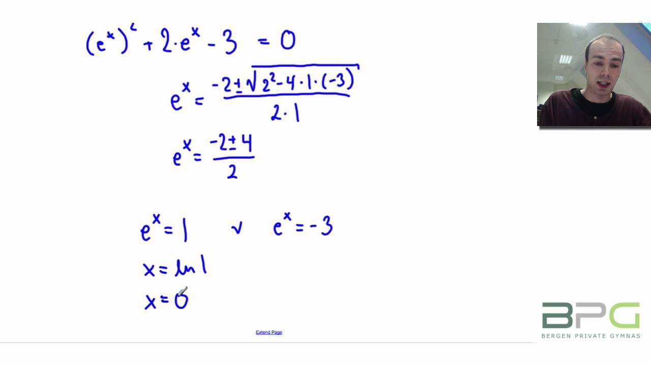Likninger og ulikheter med naturlige logaritmer
