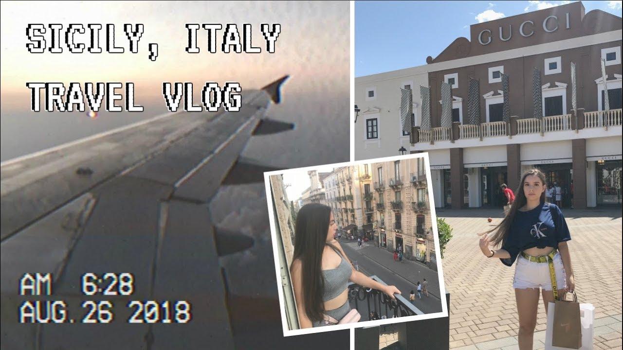 SICILY TRAVEL VLOG - Sicilia Outlet Village, Auchan & MORE!