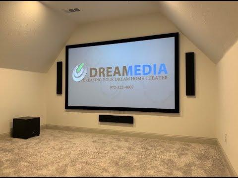"GOALS! MartinLogan 5.1.2 W/ 120"" Dragonfly Screen & Epson Pro Cinema 4050 Projector! DEMO @29:24"