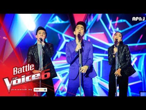 เนท VS เก่ง+ข้าวฟ่าง -  Get Lucky  - Battle - The Voice Thailand 6 - 4 Feb 2018
