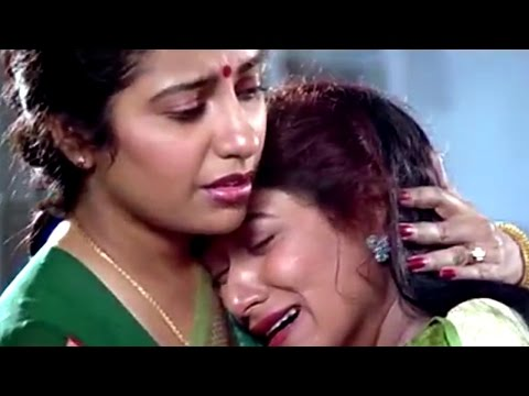 Shubhalagnam Movie || Aamani Emotional Crying Scene || Jagapati Babu, Aamani, Roja