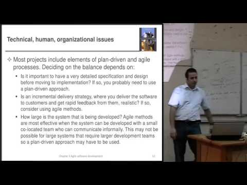 Software Engineering 1 - Week 8 - Agile Software Development