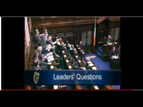 Richard Boyd Barrett TD and Tanaiste Eamon Gilmore clash over Austerity Treaty