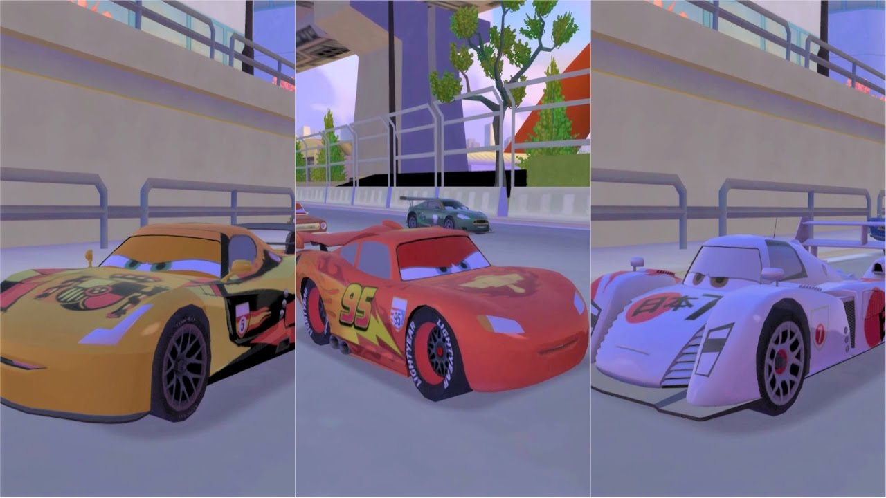 Cars 2 lightning mcqueen vs jpn shu todoroki vs spa miguel camino youtube - Coloriage cars 2 miguel camino ...