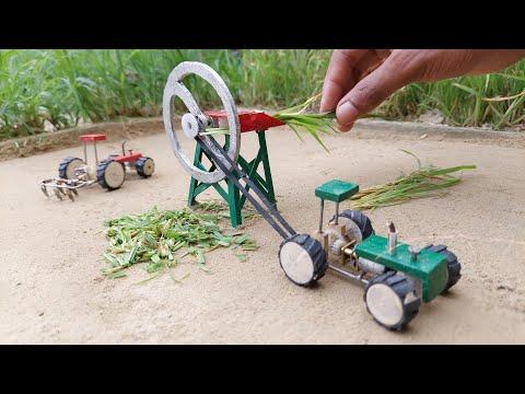 diy tractor chaff cutter machine & water pump science project @Mini Machine