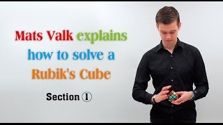 Mats Valk explains how to solve a Rubik's Cube --Section 1 thumbnail