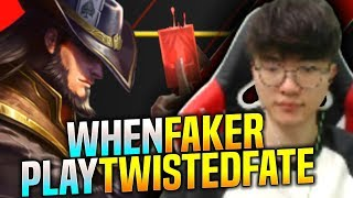 FAKER is SO GOOD With TWISTED FATE! - SKT T1 Faker Plays Twisted Fate vs Qiyana Mid | Faker SoloQ