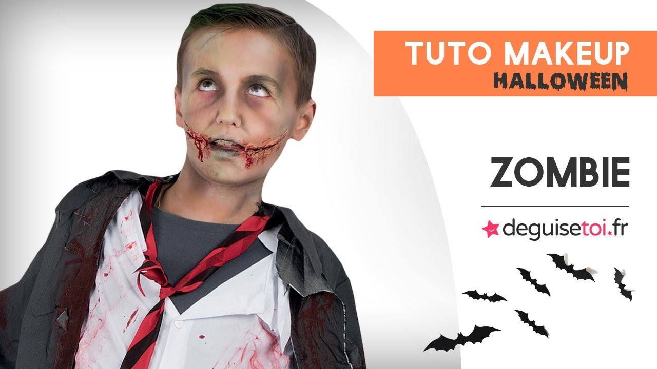 tuto maquillage halloween enfant ado zombie youtube. Black Bedroom Furniture Sets. Home Design Ideas