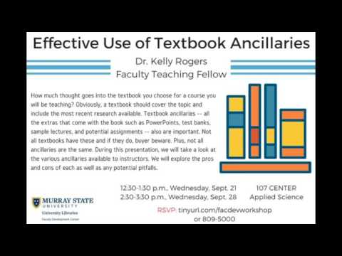 Effective Use of Textbook Ancillaries