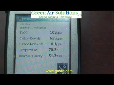 Pureti Clean Air Test @ GREEN AIR SOLUTIONS TN.