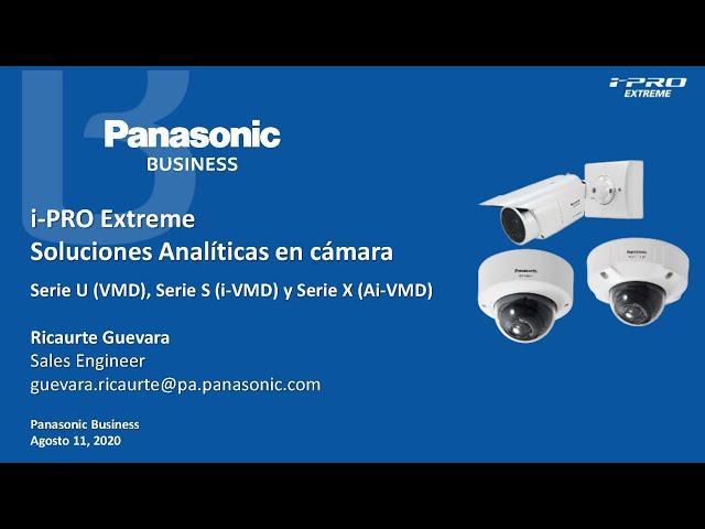 Panasonic, i-PRO Extreme. Soluciones Analíticas en Cámara