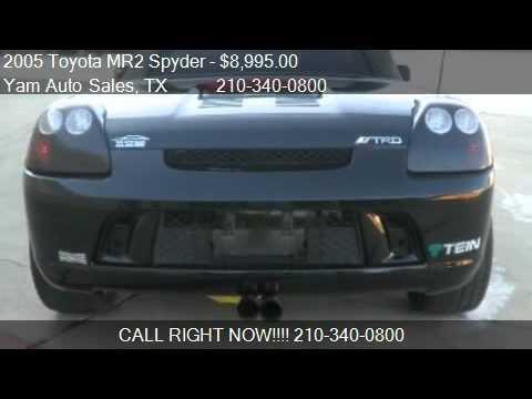 2005 toyota mr2 spyder convertible for sale in san antonio youtube. Black Bedroom Furniture Sets. Home Design Ideas