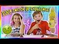 CRAZY SODA SWITCH UP CHALLENGE!😝 | We Are The Davises