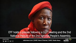 EFF leader Julius Malema addresses the media on the outcome of their meeting held over the weekend