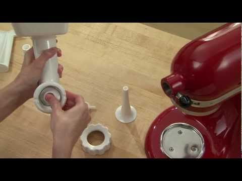 KitchenAid® Sausage Stuffer Attachment Kit from YouTube · Duration:  52 seconds