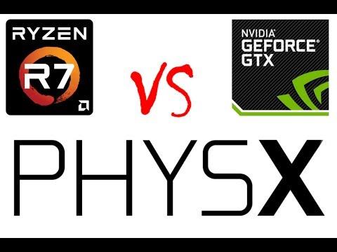 2017: Nvidia PhysX on CPU or GPU? 1080 vs 1800x