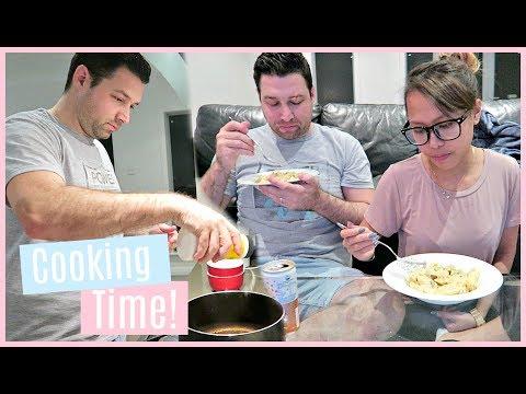 HUSBAND & WIFE COOKING TIME! AUSTRALIAN COOKS ITALIAN PASTA ❤️ | rhaze