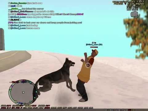 dog vs human who wins? and revenge... (GTA SA-MP)
