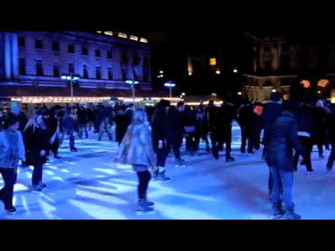 Buttoned Down Disco Goes Skating at Somerset House: January 2010