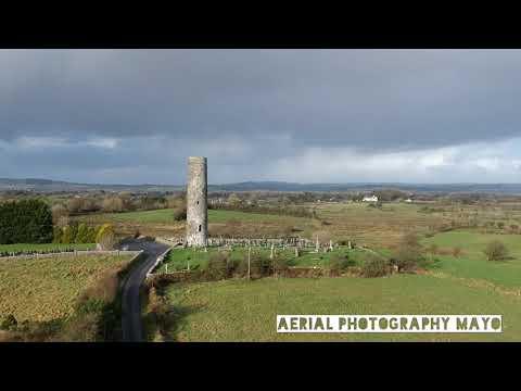 DJI - Round tower @ Meelick , Swinford , County Mayo