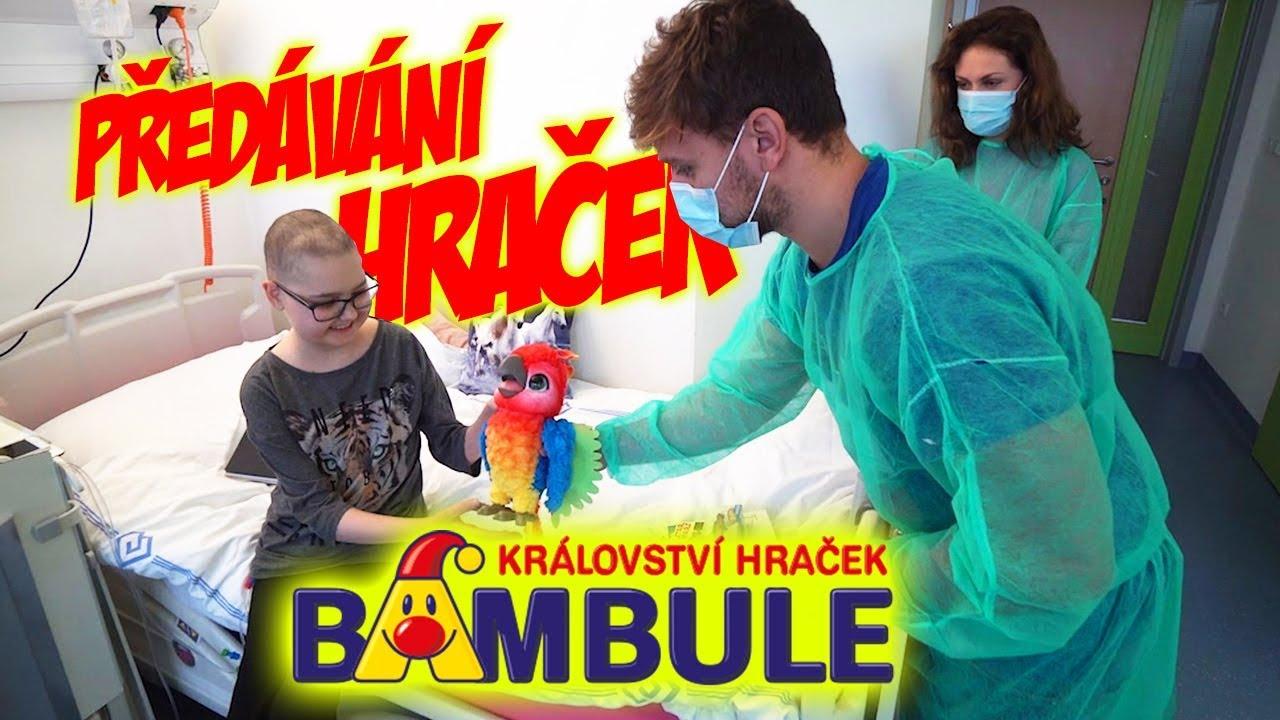 Předáváme Hračky Dětem v Nemocnici #1   Stáňa, Tary a Bambule