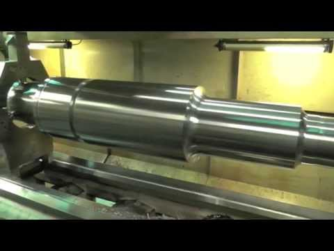 "LARGE CNC LATHE (x240) MACHINING HYDRO SHAFT (164"" long)"