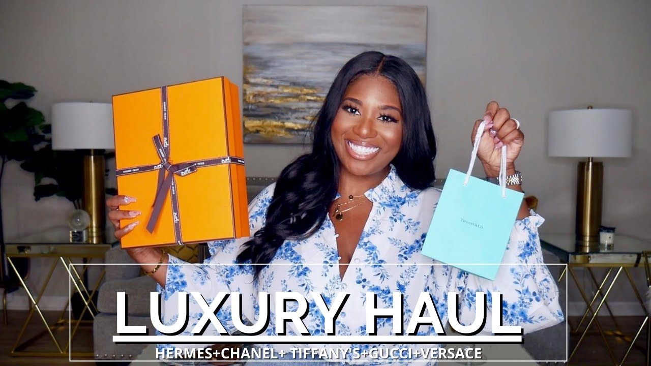 LUXURY HAUL! HERMES UNBOXING, CHANEL, TIFFANY''S + MORE! | POCKETSANDBOWS