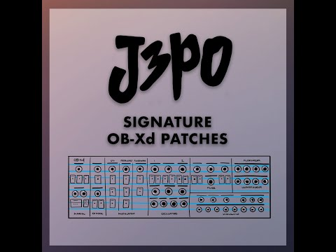 J3PO Signature OB-Xd Patches (Free/Donation)