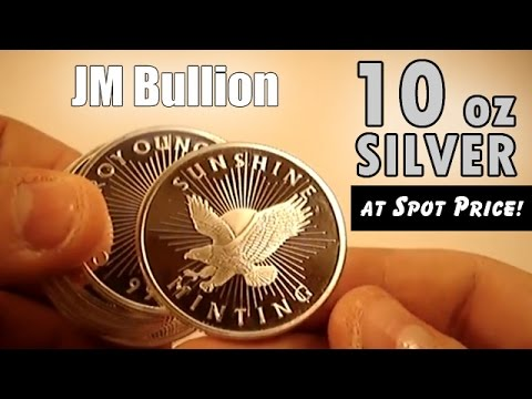 JM Bullion Starter Pack – 10 oz Silver Tube at Spot Price!