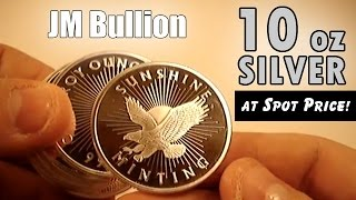 JM Bullion Starter Pack - 10 oz Silver Tube at Spot Price!