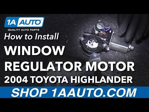 How to Install Replace Power Window Regulator Motor Front Driver Side 2001-07 Toyota Highlander