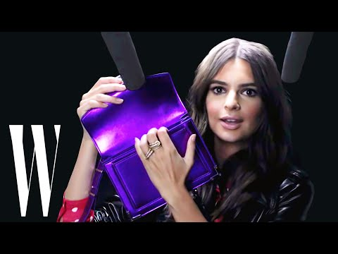Emily Ratajkowski Explores ASMR with Whispers, Leather, and a Lint Roller | W Magazine