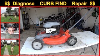 Lawn Mower - CURB FIND REPAIR - Diagnose and Fix Non-Starting Lawn Mower #SideHustle
