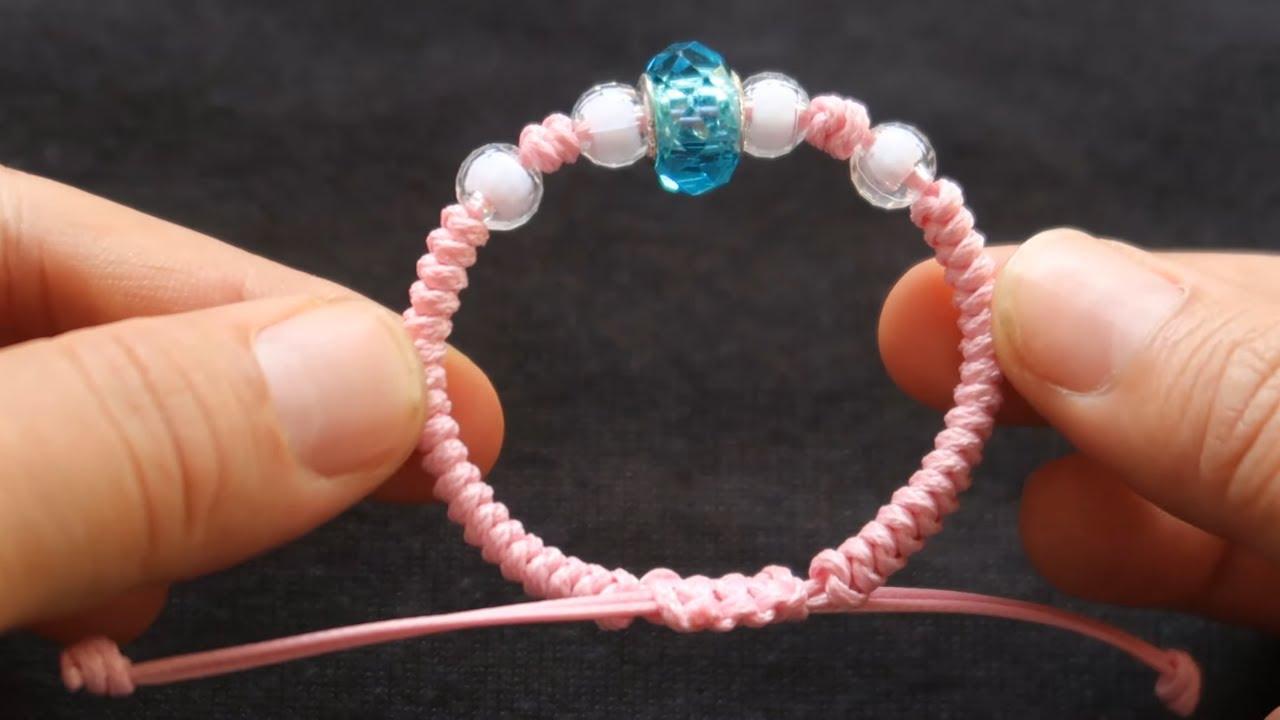 friendship bracelet diamond with 5 beads hướng dẫn cách làm vòng tay 5 hạt pha lê đẹp