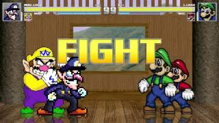 waluigi and wario vs the mario brothers mugen